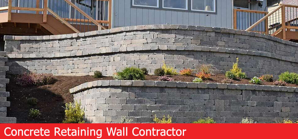 retaining wall concrete contractor